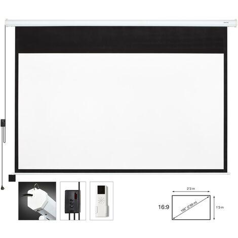 Ecran de projection électrique 120in 16:9 2,6x1,5m