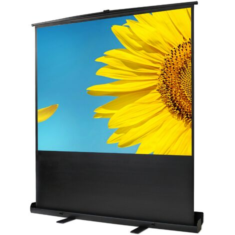 Ecran de Projection sur Pied, Ecran de Projection Portable, 163 x 123 cm, Matériau: Toile blanche, Alliage en aluminium
