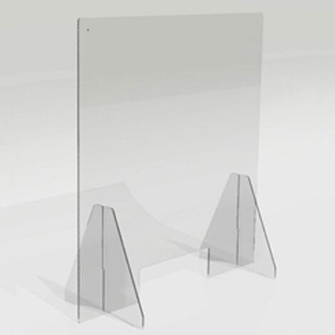 Ecran de protection plexiglas - Dimensions L75 x H79 x prof 30 cm - Transparent