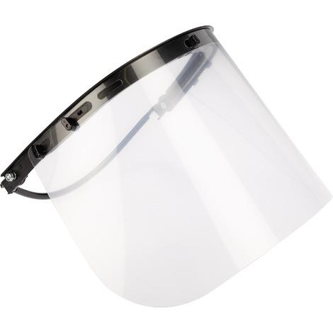 Ecran de protection polycarbonate avec serre casque Outibat - Incolore