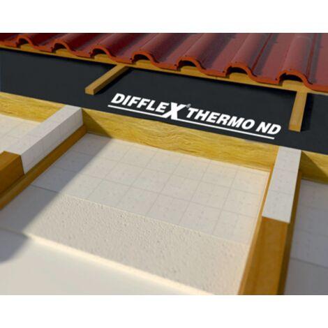 Ecran de sous-toiture Difflex Thermo ND 220 autocollant 'SK' 75 m² BWK