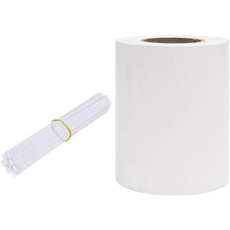 Écran d'intimité de jardin PVC 35x0,19 m Blanc