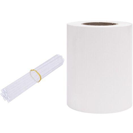 Écran d'intimité de jardin PVC 70x0,19 m Blanc