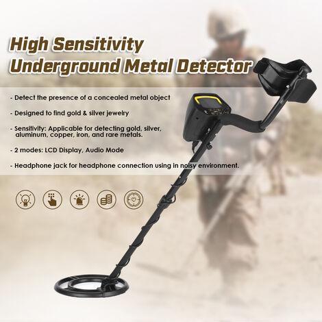Ecran Lcd Detecteur De Metaux Detecteur Nugget Gold Digger Treasure Hunter, Detection Chercheur Etanche Multi-Fonction Pelle Pliante