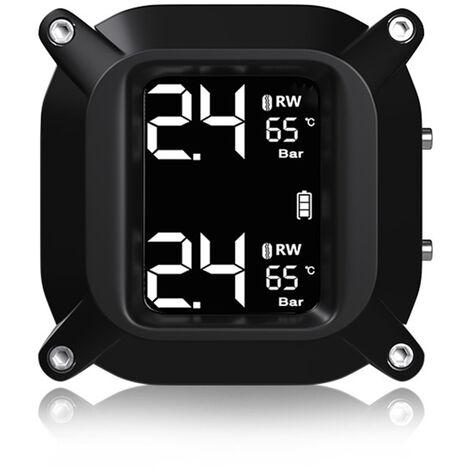Écran LCD sans fil TPMS Capteurs TH / WI internes ou externes Système de surveillance de la pression des pneus en temps réel de moto étanche
