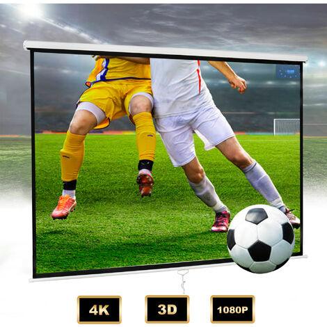 Écran pour Projecteur, Ecran de Projection, 200 x 200 cm, Matériau: Tissu en nylon, Acier
