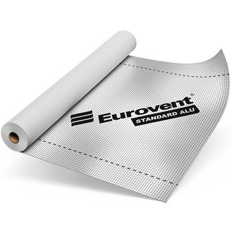 Ecran sous-toiture pare-vapeur STANDARD ALU en 110 gr/m². 1.5ml x 50 ml