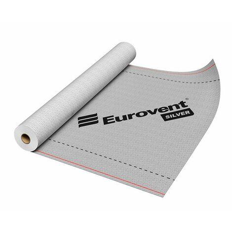 Ecran sous toiture SILVER (GRIS) 90g/m2 75m2(1,5x50m) Film étanchéité / pare-vapeur EUROVENT