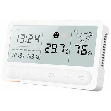 ecran Tactile Couleur Lcd Station Meteo Sans Fil Reveil Thermometre Hygrometre - Boisc