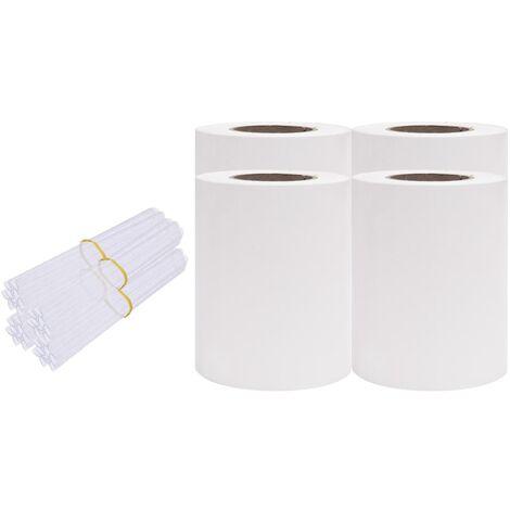 Écrans d'intimité de jardin 4 pcs PVC 35x0,19 m Blanc
