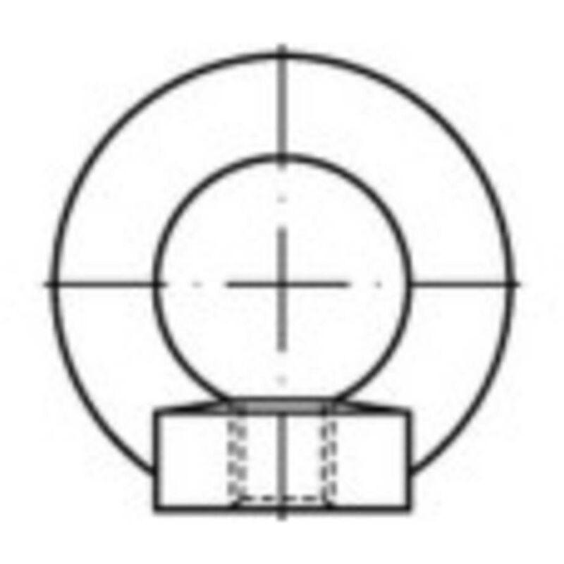 Écrou à anneau M20 N/A TOOLCRAFT 109404 acier 1 pc(s)