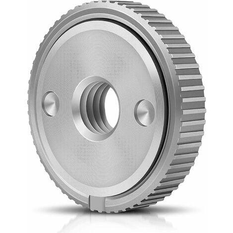 écrou à serrage rapide SDS Dispositif de serrage pour toutes les meuleuses d'angle à filetage M14 des marques AEG, Black & Decker, Dewalt, Flex, Hitachi, Metabo, Makita