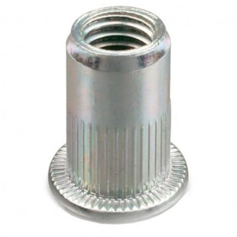 Ecrou à sertir cranté tête plate Acier M8 x 40 mm - Boite de 150 pcs - Diamwood EAPC0804002B - -
