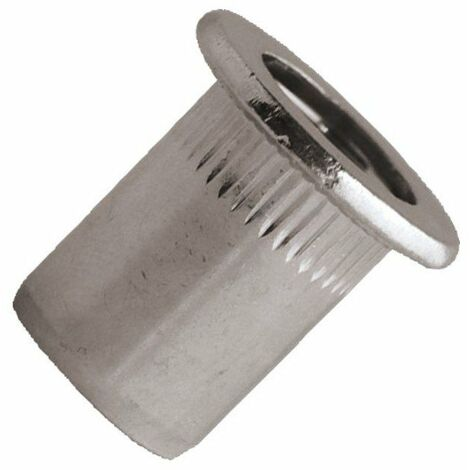 Ecrou a sertir inox a2 tete reduite m5 x 11,5 mm - boite de200