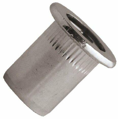 Ecrou a sertir inox a2 tete reduite m6 x 14 mm - boite de 100