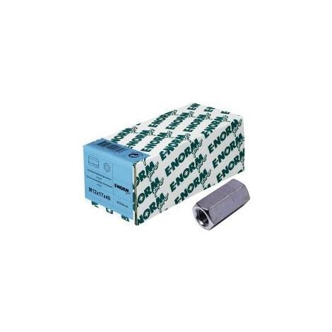 Ecrou allongé 4,8 - 6 pans galZn M12x40x17 HP E-NORMpro (Par 50)