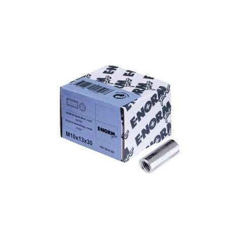 Ecrou allongé 4,8 - rond galZn M10x30x13 HP E-NORMpro (Par 100)