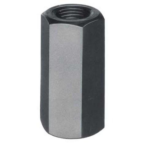Ecrou allongé, Filetage : M22, 6 pans cote s/plats 34 mm, Cote d'encoignure 37,70 mm, Hauteur : 66 mm