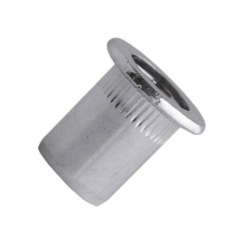 Ecrou aveugle acier cranté tête plate M5x30 blister de 50 Scell-it