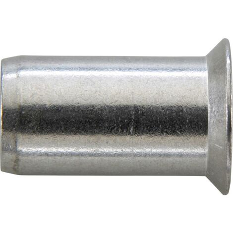 Écrou aveugle acier galvanisé tête fraisée 90° M8x11x18,5mm GESIPA 100 PCS