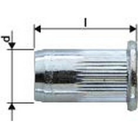Ecrou aveugle acier galvanisé tête large M6x9x15,5 Gesipa (Par 250)