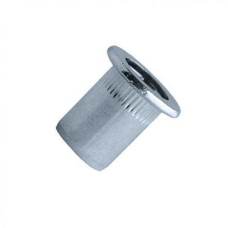 Écrou aveugle cranté à tête plate alu EAD (boîte) SCELL-IT - plusieurs modèles disponibles