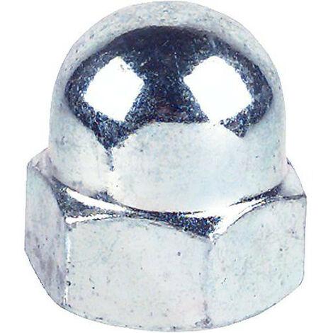 Ecrou borgne a calotte A2 DIN 1587 M 3 Forme haute Emballage 200 pcs