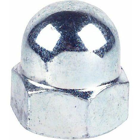 Écrou borgne en inox A4 DIN 1587, ø filetage : 3 à 20 mm