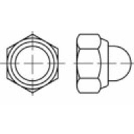 Écrou borgne hexagonal auto-freiné M6 N/A TOOLCRAFT 1066609 acier inoxydable 100 pc(s)