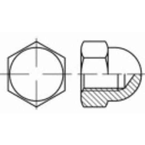 Écrou borgne hexagonal TOOLCRAFT 137161 N/A Acier 6 M6 100 pc(s)