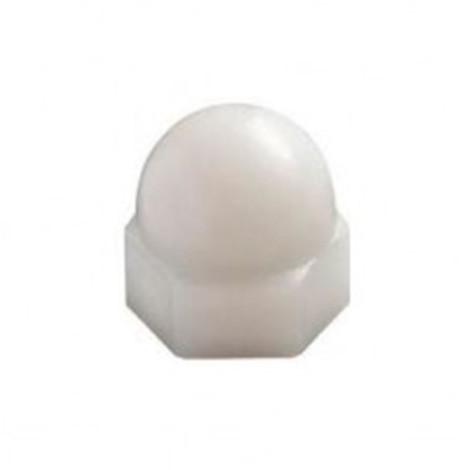 Ecrou borgne M12 mm Polyamide naturel - Boite de 100 pcs - Diamwood EB12NY