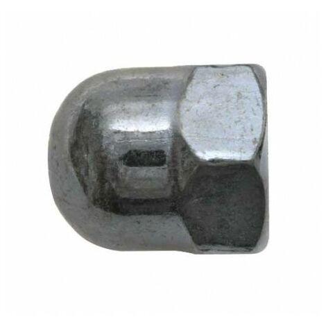 Ecrou borgne zingué - M 6 - Boite de 12