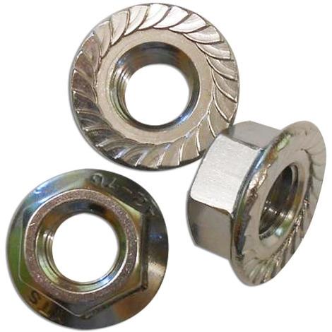 Écrou en acier inoxydable hexagonal à bride et moletée