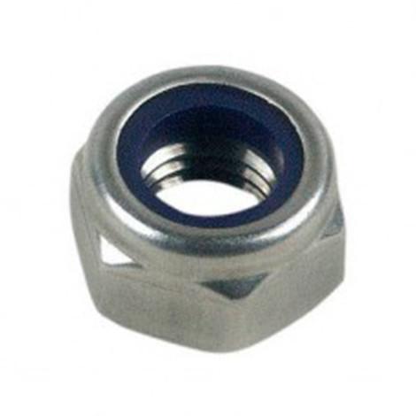 Ecrou frein indesserrable bague nylon M10 mm Zingué - Boite de 100 pcs - Diamwood 05081002B