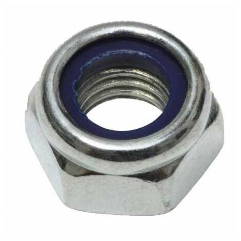Ecrou frein nylstop zingué - M 5 - Boite de 20