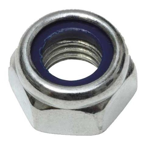 Ecrou frein nylstop zingué - M 8 - Boite de 16