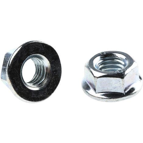 Ecrou hexagonal à collerette de diamètre 11.8mm, M5, Acier Galvanisé brillant