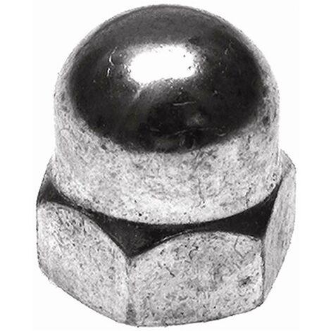 Ecrou hexagonal Din 1587 aveugle M08 Acier inoxydable Hsi 2 Pcs 998097