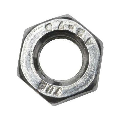 Ecrou hexagonal M 10 - INOX - Boite de 50