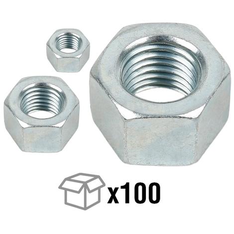 x10 /Écrou Hexagonal Acier Inox DIN 934 M1.6