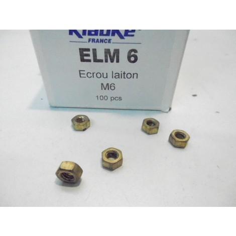 Ecrou laiton 6 pans diametre M6 KLAUKE ELM6