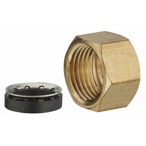 Écrou laiton + joint mixte femelle F1/2' (15x21) pour tube cuivre NOYON & THIEBAULT - Ø 12 mm - 460G-1512L1
