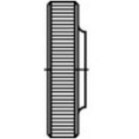 Écrou moleté type bas M4 N/A TOOLCRAFT 107582 acier 100 pc(s)
