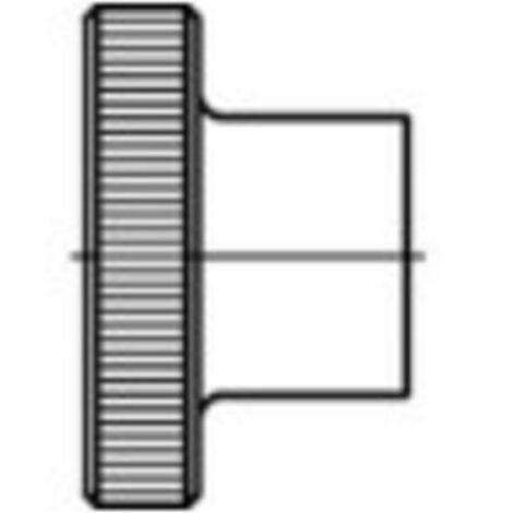 Écrou moleté type haut M3 N/A TOOLCRAFT 1060876 acier inoxydable 25 pc(s)