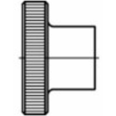 Écrou moleté type haut M4 N/A TOOLCRAFT 1060877 acier inoxydable 25 pc(s)