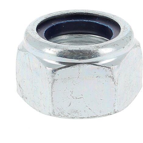 Ecrou Nylstop Acier Zingué Blanc DIN 985