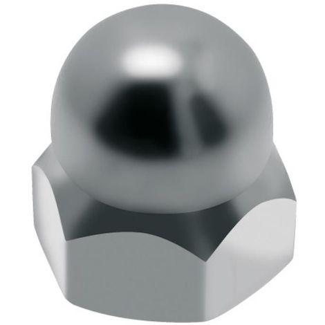 Écrous borgnes inox A2, diamètre 14 mm, boîte de 25 écrous