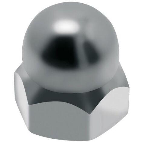 Écrous borgnes inox A4, diamètre 10 mm, boîte de 25 écrous