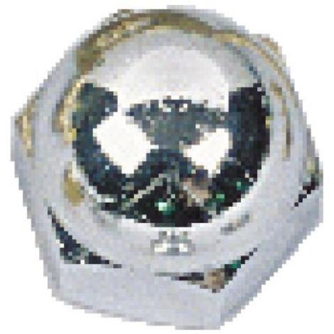 Écrous borgnes laiton chromé, diamètre 8 mm, sachet de 25 pièces