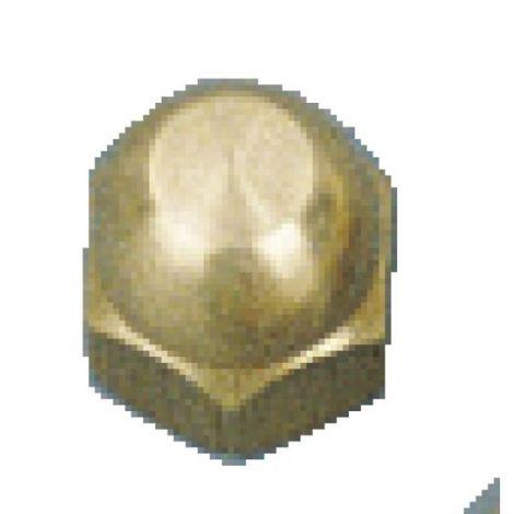 Écrous borgnes laiton, diamètre 6 mm, sachet de 25 pièces